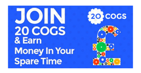 20 Cogs - Earn Cash Via Offers And Cash Back Offers