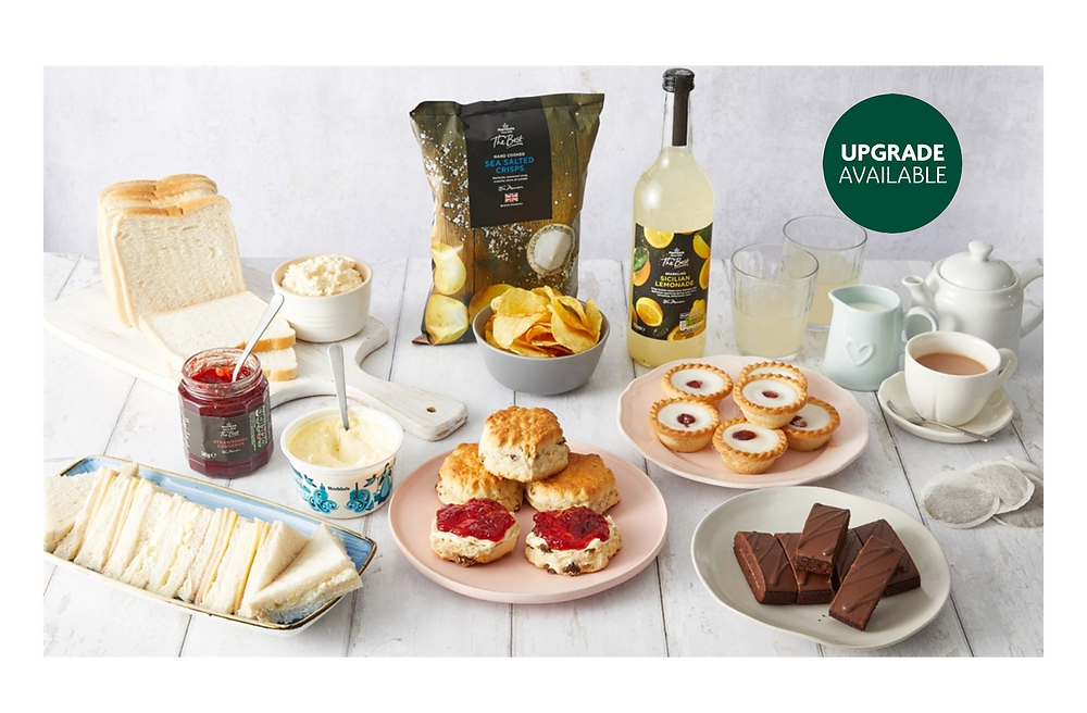 Afternoon Tea box for £20, delivered from Morrisons