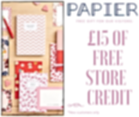 Grab £15 of FREE Papier store credit with Thepennypincher.co.uk