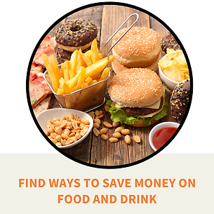 Findways to save money on your food and drink purchases