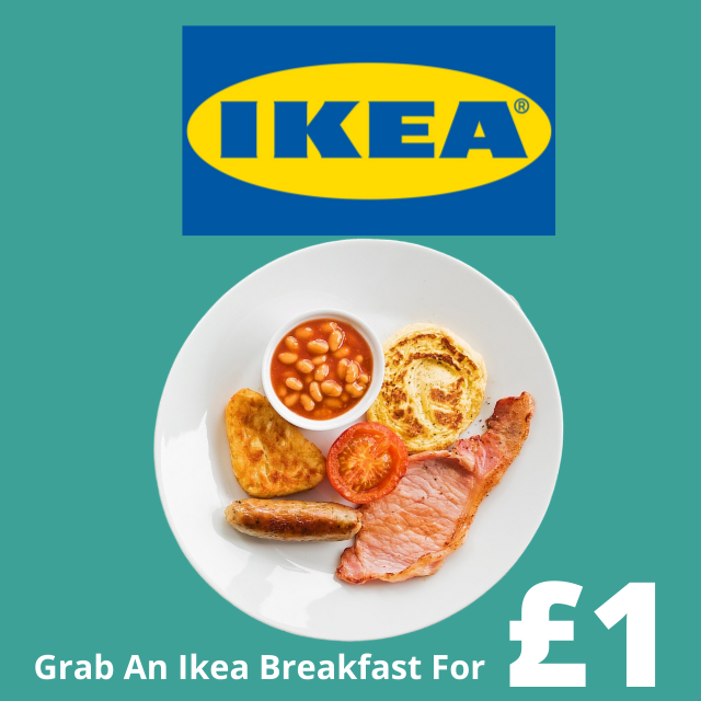 6 piece Ikea breakfast for just £1 till 27th March 2020