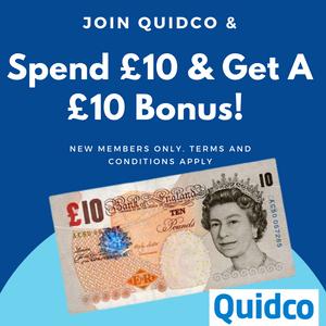 Spend £10 Get A £10 Bonus For New Quidco Members