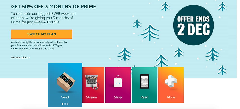 Grab 3 months Amazon Prime for just £11.99