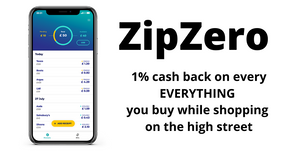 ZIPZERO - Get 1% Cashback On ALL Your Shopping Receipts!