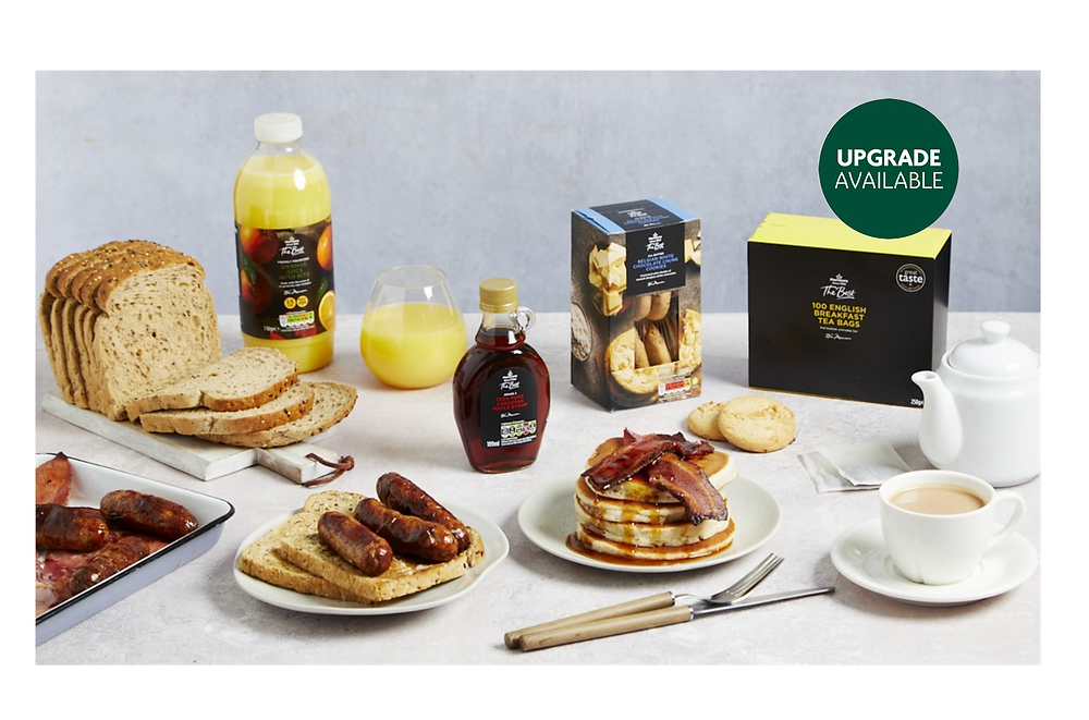 Breakfast In Bed box for £20, delivered from Morrisons