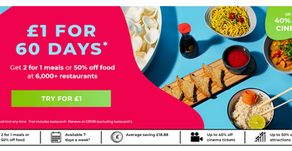 60 Days Of Taste Card Benefits For Just £1!