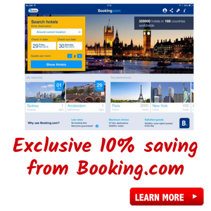 Get a 10% rebate off your Booking.com order, exclusively from The Penny Pincher