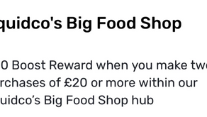 Grab a £20 cash back bonus when buying £40 of groceries until Sunday!