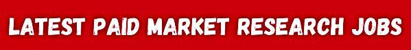 The latest paid market research jobs in the UK