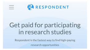Respondent Market Research- Get Paid For Your Opinion