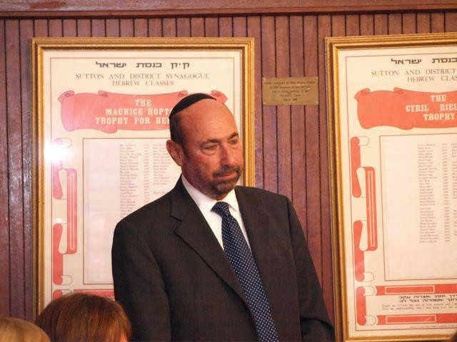 Mr Stephen Pack, President of United Synagogue, UK