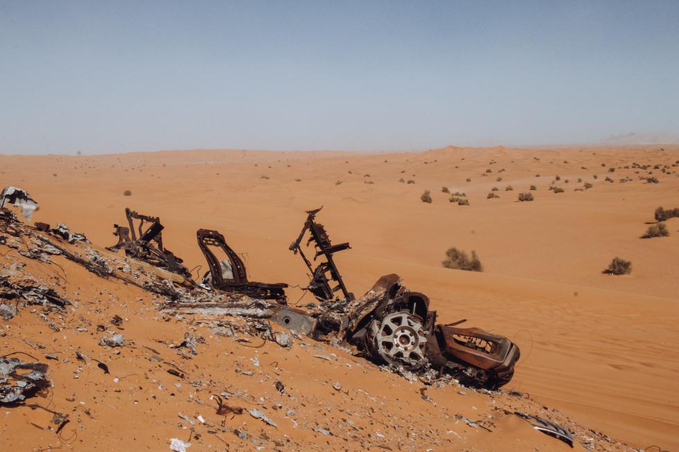 Burned Car, Al Fayya desert.