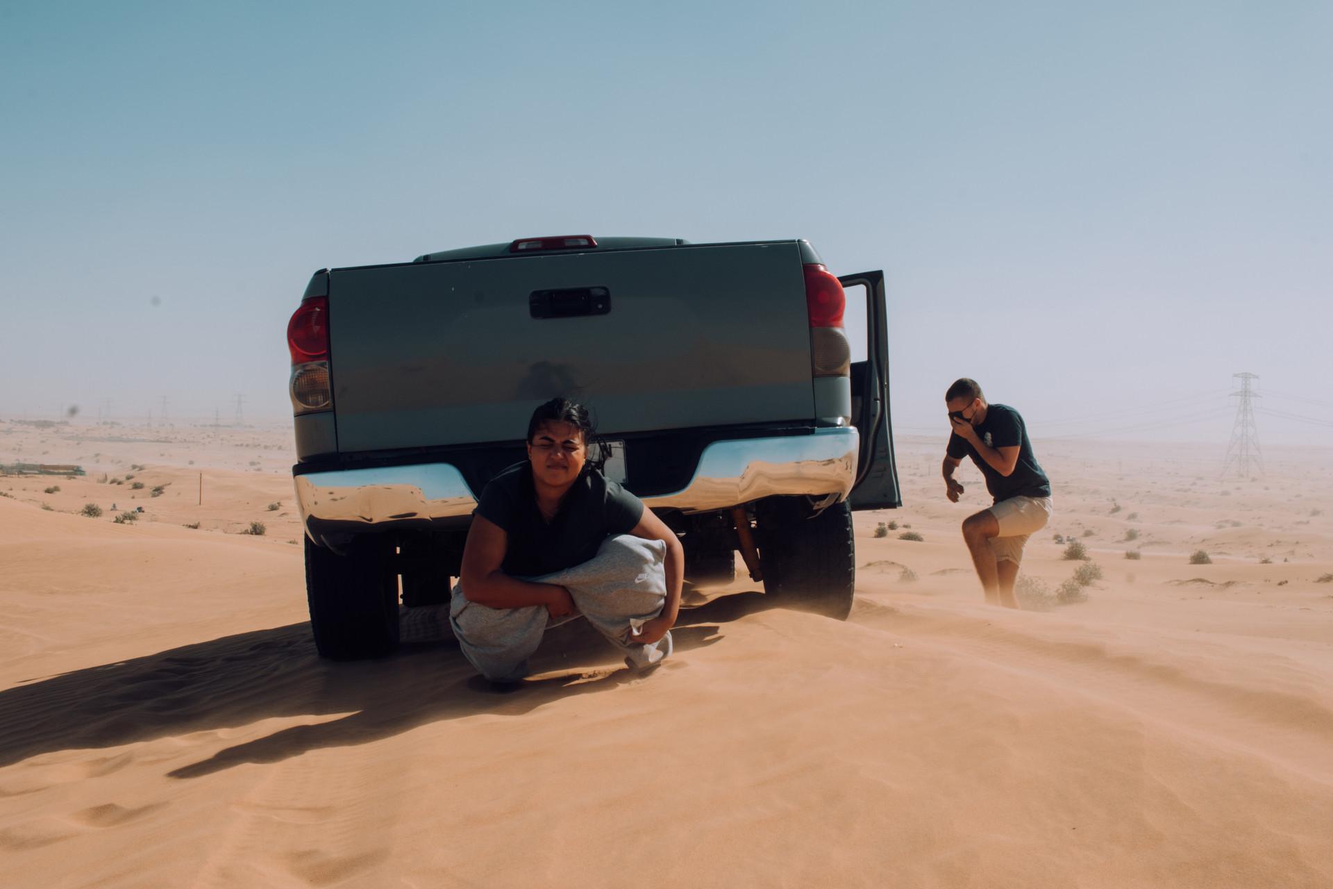 Pitstop, al Fayya desert.