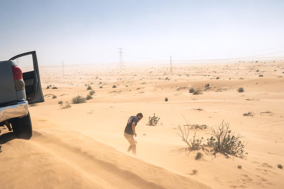 Windy desert, Al Fayya desert.