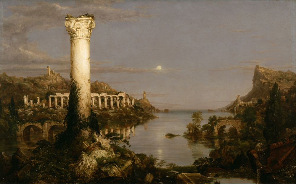 """Desolation from """"The Course of Empire"""" by Thomas Cole [Public Domain]"""