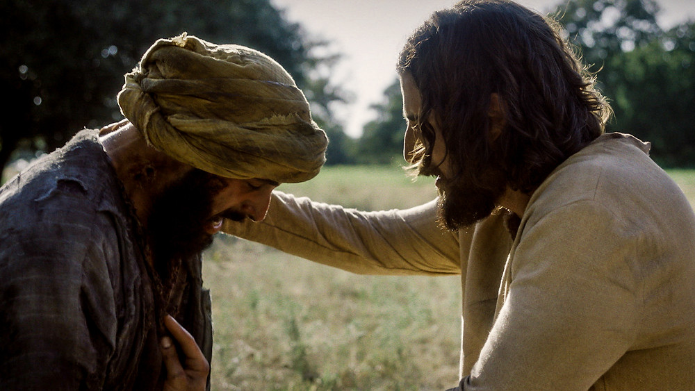 Jesus touches the leper in The Chosen