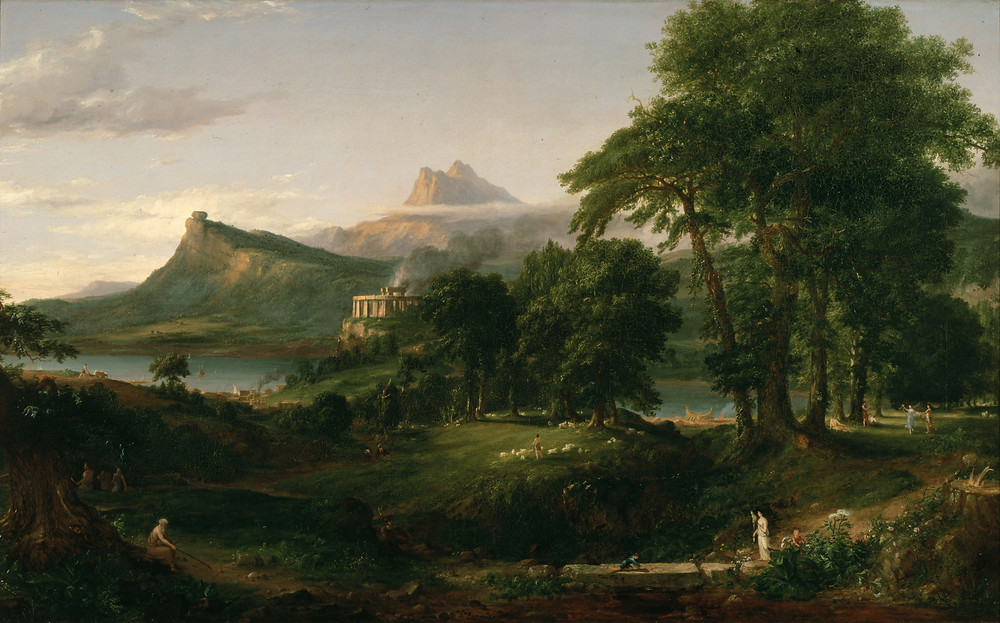 The Arcadian or Pastoral State by Thomas Cole [Public Domain]