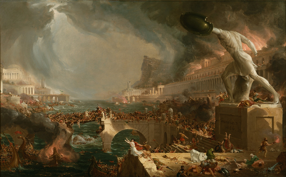 """Destruction from """"The Course of Empire"""" by Thomas Cole [Public Domain]"""