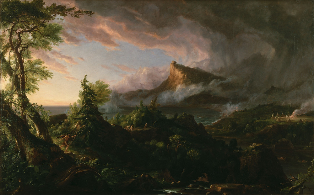 The Savage State from The Course of Empire by Thomas Cole [Public Domain]