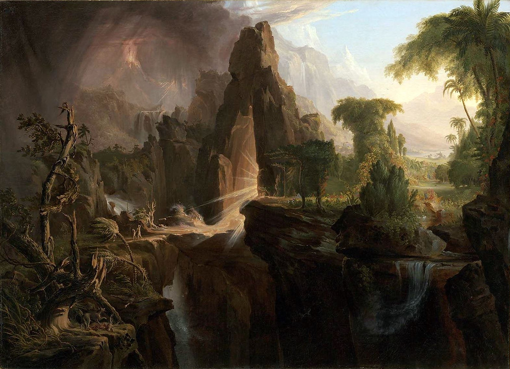 Expulsion from the Garden of Eden by Thomas Cole [Public domain]