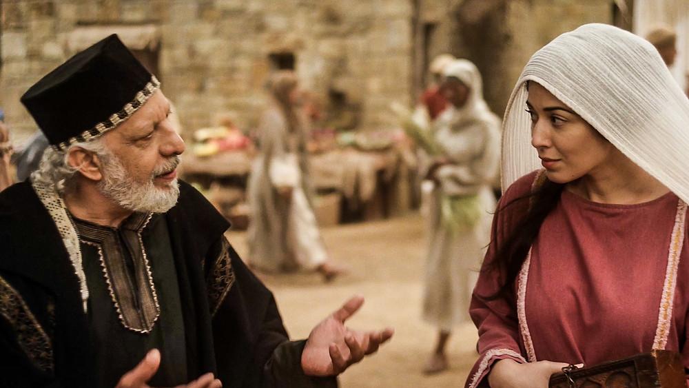 Nicodemus talks with Mary
