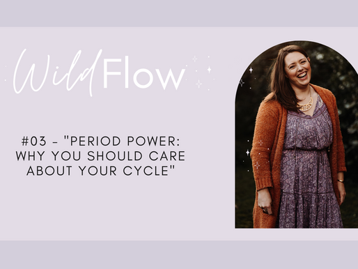 """Wild Flow Podcast #03 - """"Period Power: Why You Should Care About Your Cycle"""""""
