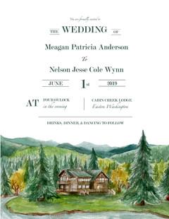 Wedding Venue Illustration Gouache 2019