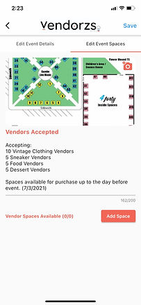 Edit Event Spaces (Vendors Accepted Only