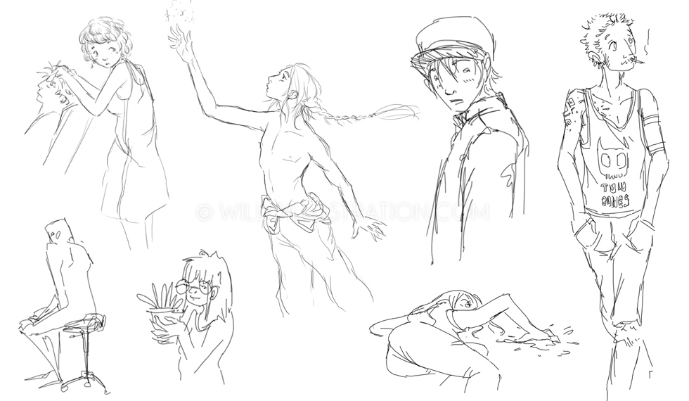 croquis / sketches