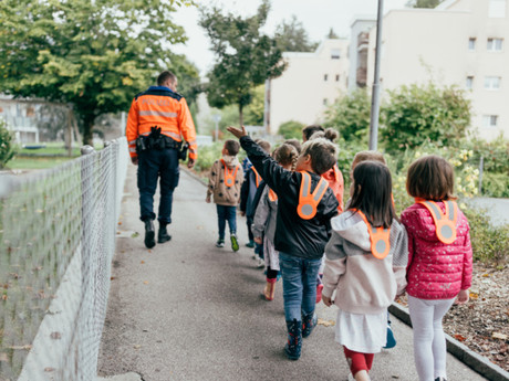 Schulwegkampagne für Wiler Kindergartenkinder