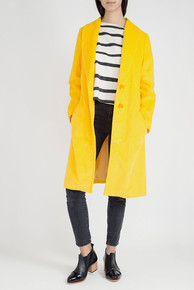 Abrigo cotelé amarillo