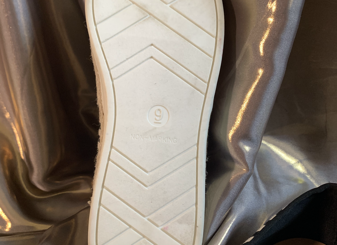 Black and Cream Boat Shoe - Size 9