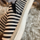 Thumbnail: B/W Striped Boat Shoe - Size 9