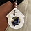 Thumbnail: My Way Blue Agate Stone Sea Shell Leather Necklace