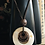 Thumbnail: Circle Sea Shell Leather Necklace