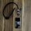Thumbnail: Black Marble Agate Necklace Set