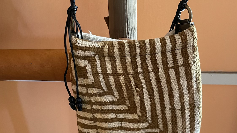 Gold African Mudcloth Purse