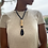 Thumbnail: Blackstone Leather Agate Necklace