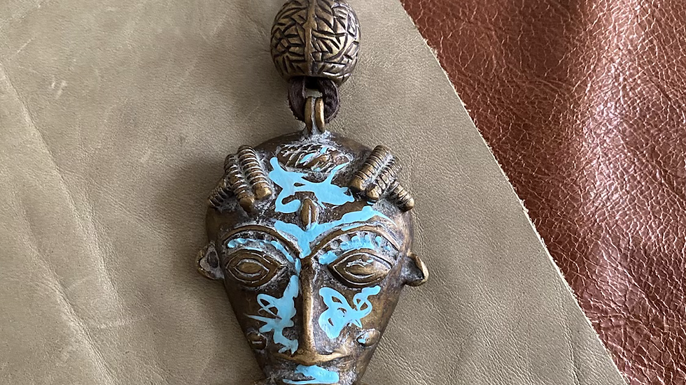 African Mask Necklace