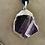 Thumbnail: Purple-Black Marble Agate Stone Necklace