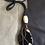 Thumbnail: Blackstone Agate Leather Necklace Set