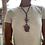 Thumbnail: Triple Agate Stone Stone Leather Necklace