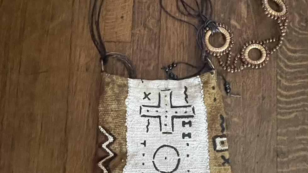 Small African mudcloth purse