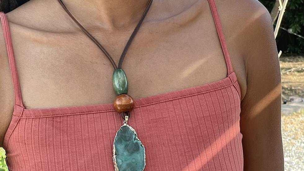 Green Quartz Stone Necklace