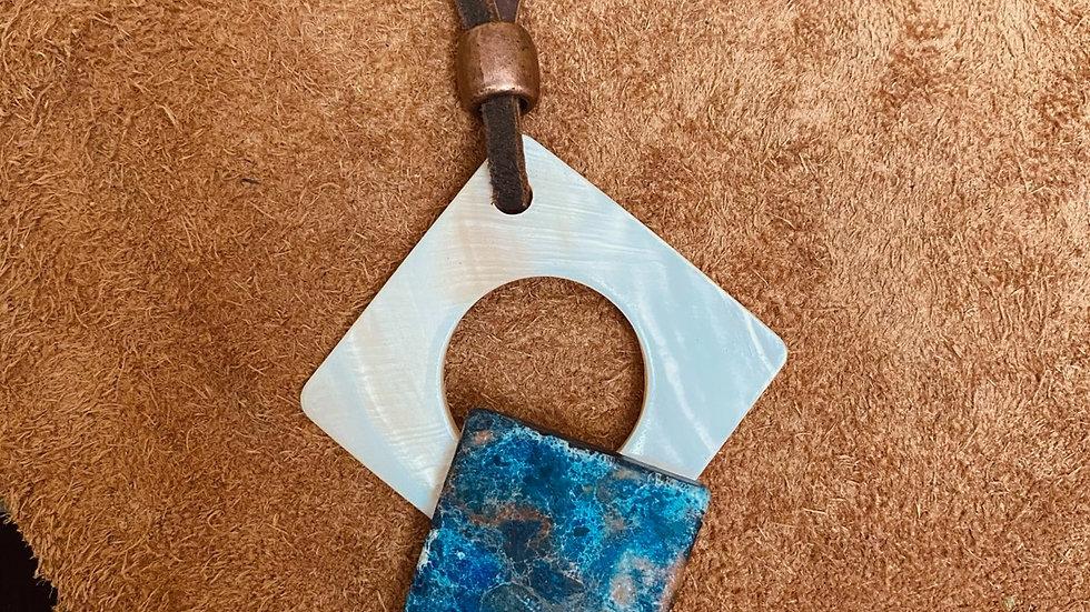 Multi-colored Blue Agate Stone