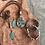 Thumbnail: Multi-Colored Green Agate Stone and Turquoise Set