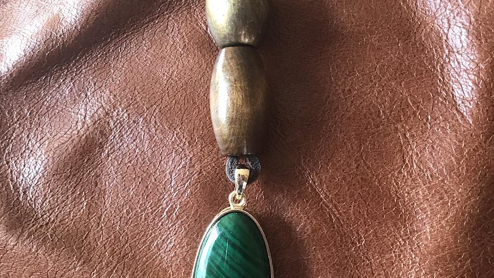 Green Eye Amethyst Stone Necklace
