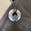 Thumbnail: Grayish-White Agate Stone Leather Necklace
