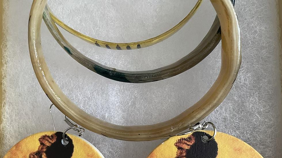 Afro-Centic Designed Earrings and Bracelets Box Set