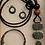Thumbnail: Patina Colored Lightweight Metal Necklace Box Set